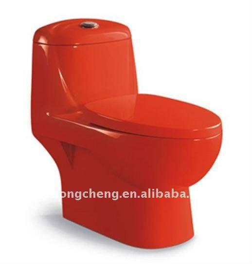 Imagenes De Baños Rojos:Cerámica inodoro sifónico rojo color-Baños-Identificación del