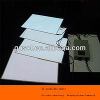 Ali trade assured A4 size EL backlight sheet,EL backlight panel,white color EL sheet