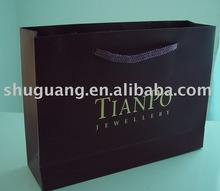 Logo Glossy Gold Hot Foil Paper Bag in China