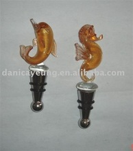 glass arts, glass bottle stopper, wine bottle stoppers. glass angels
