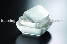 7 '' 8 '' 10 '' cor branca de porcelana durável tigelas quadradas H0741