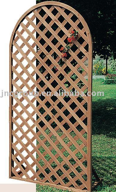 trelica jardim madeira:Wood Fence with Lattice Panels