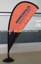 mini flying banner (table teardrop) for desk display