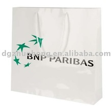 Offfset print paper shopping carrier bag