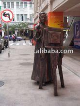 bronze ancient photographer sculpture