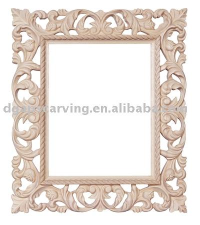 Tallado de madera maciza marco foto