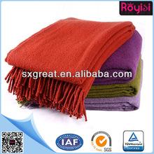 100% wool wholesale throw blanket