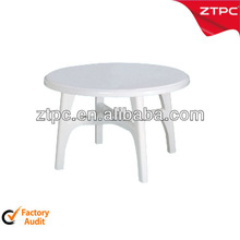 Plastic outdoor round folding table