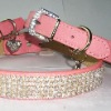 cute dog products rhinestone leather dog collar