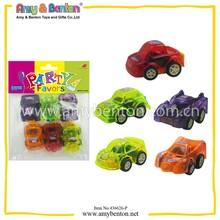 Plastic Pull Back Car Toys Pull Back Car Toys(printed cartoon on the car)