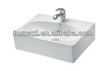 BMV-T317 Bathroom White Square Top Mount Ceramic Sink