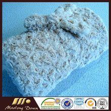 Cut Rose Pattern Microplush Blanekt And Throw Luxury Wool Plaid Blanket Throw
