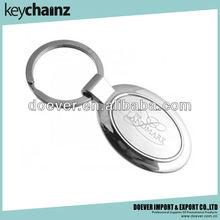 Hot Promotion Gift Of Elegant Oval Engraved Keychains