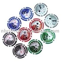 11.5gram poker chips with sticker