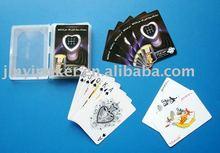 Personnalisé plstic cartes à jouer avec le paquet de boîte en plastique