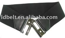 Fashion custom black belts Elastic Belt