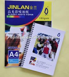 180g/m2 glossy inkjet photo Paper