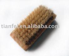 Natural Bristle Wooden Nail Brush