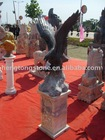 marble eagle statue with pure hand carving stone sculpture