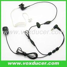 For Yaesu Vertex ham radio VX-200 VX-300 finger PTT air tube earphone