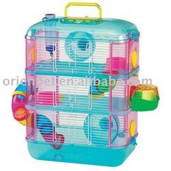 plastic pet hamster cage
