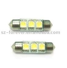 White 39mm 5050 3-smd 55 Lumens 12V Festoon Dome Light LED Bulbs