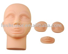Permanent makeup tattoo practice model head mannequin head