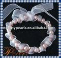 natural de la moda pulsera de la perla con la cinta
