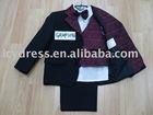 boys' five pieces black patterns suit