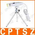 La iluminación 8-led 230x zoom microscopio digital usb con base dock stand y un trípode
