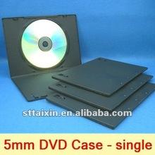 5mm plastic cd dvd box/dvd case