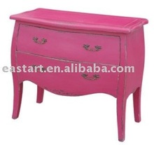 french style furniture - rose red chest