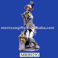 Handmade custom polyresin collectible clown figurine
