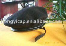 ทหารขนหมวกเบเร่ต์สีคลาสสิก, ที่มีคุณภาพสูง100%ผ้าขนสัตว์