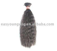 Sell synthetic fiber hair bulk, grey bulk hair extension