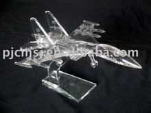 crystal aircraft,glass airplane ornaments model decoration gifts