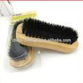 de madera del cepillo de pelo de caballo cepillo de zapatos de calzado polaco de limpieza cepillo de zapatos