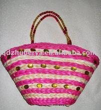 fanshion corn husk straw bag--a