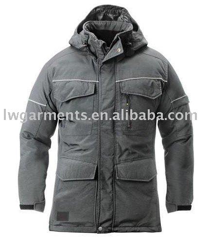 Poliéster de inverno longo uniformes jaqueta PARKA