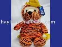 plush backpack ,tiger toys,plush tiger