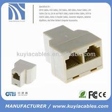 rj45 cat 5 6 ethernet lan splitter conector adaptador duplo rj45 divisor