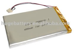 3.7V rechargeable high quality Lithium polymer battery