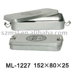 Metal Pencil box with Clasp Closure
