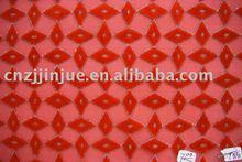 red diamonds mesh fabric