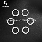 Silicone coated bra ring and slider
