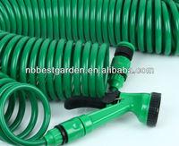 shrinking garden hose recoiled