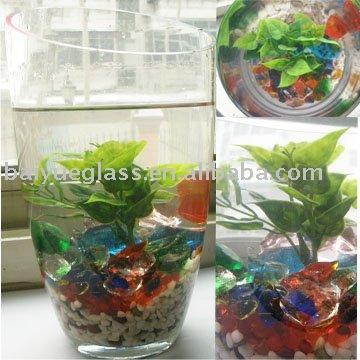 Color glass pebble for Aquariums