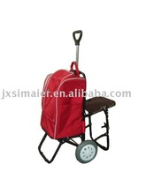 SHOPPING TROLLEY WITH CHAIR AND HOT COOLER BAG