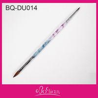 2013 Durable Professional Kolinsky Acrylic Double-Sided Nail Brush
