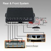 Dual CPU 6 sensors video parking sensor system